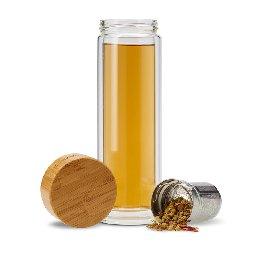Glass Tea Infuser Bottle - MY BAMBOO