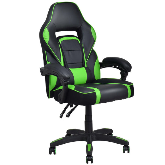 Executive Racing Style Leather Gaming Chair High Back Recliner GamingHeadsetPros.com