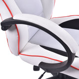 Executive High Back Sport Racing Style Gaming Office Chair Computer Swivel White GamingHeadsetPros.com