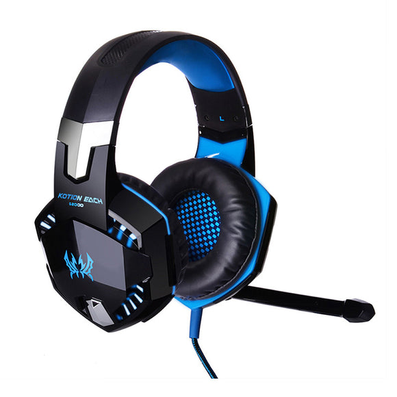 Stereo Hifi Gaming Headphones With Microphone Dazzle Glow GamingHeadsetPros.com