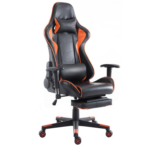 Gaming Chair High Back Racing Recliner Office Chair w/Lumbar Support & Footrest GamingHeadsetPros.com