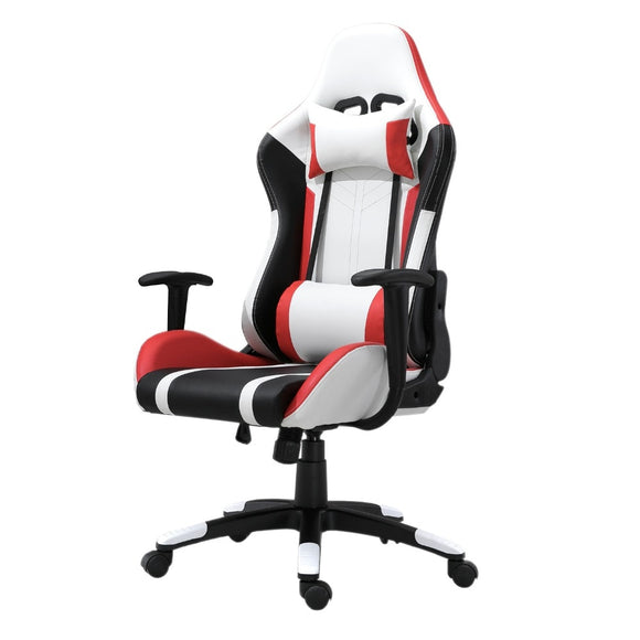 Racing Gaming Chair PU Leather High-Back with Headrest and Lumbar Support Gaming Chair GamingHeadsetPros.com