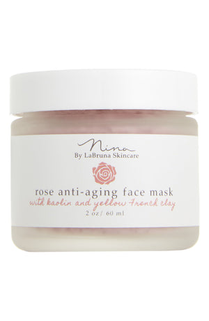 Rose Anti-Aging Face Mask with Kaolin and Yellow French Clay