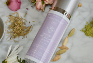 Artistic image of Renewal Smoothing Serum bottle