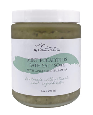 Mint Eucalyptus Salt Soak with Ginger and Balsam Fir
