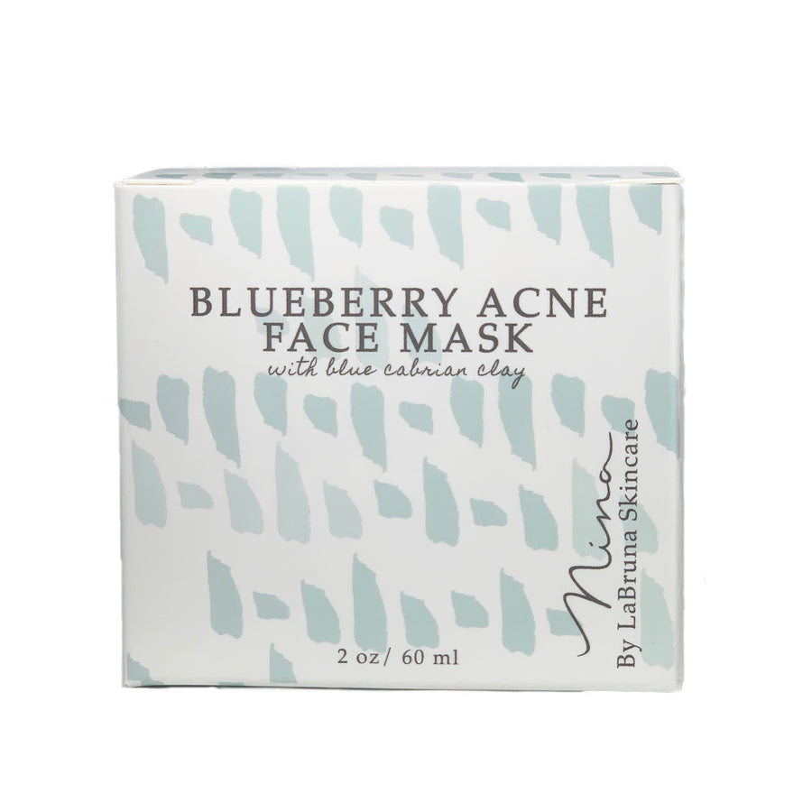 Blueberry Acne Mask with Blue Cambrian Clay