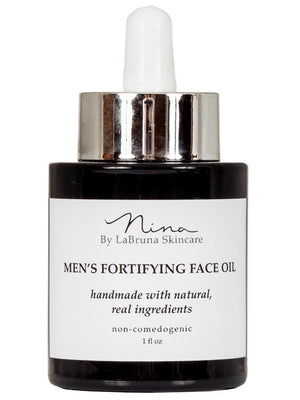 men's fortifying face oil bottle