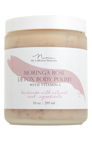 Moringa Rose Body Polish Jar