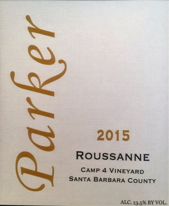 2015 Parker Roussanne Camp 4 Vineyard