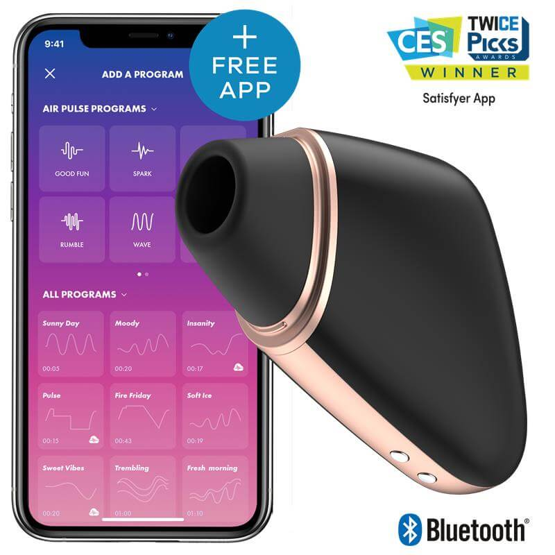 Satisfyer Love Triangle  Negro APP