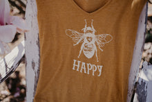 Load image into Gallery viewer, Bee Happy Festival Sleeveless V-neck Tank Top