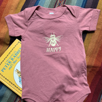 Bee Happy Infant Onesie Mauve