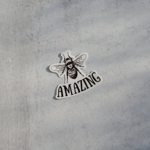 Bee Amazing Die-Cut Vinyl Sticker Decal