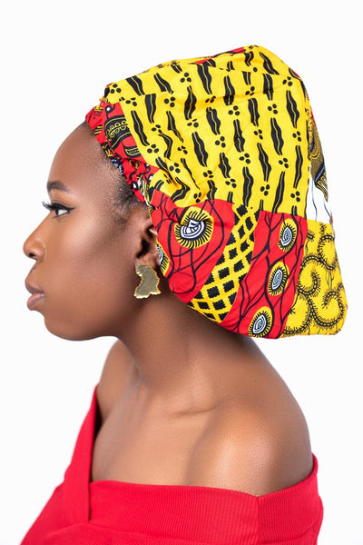 TRANSLUCENT GOLD AFRICA EARRINGS - Afro Fusion Apparel African Prints Ankara