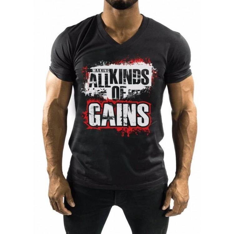 All kind of Gains - Gym/Training shirt - Sports Blue