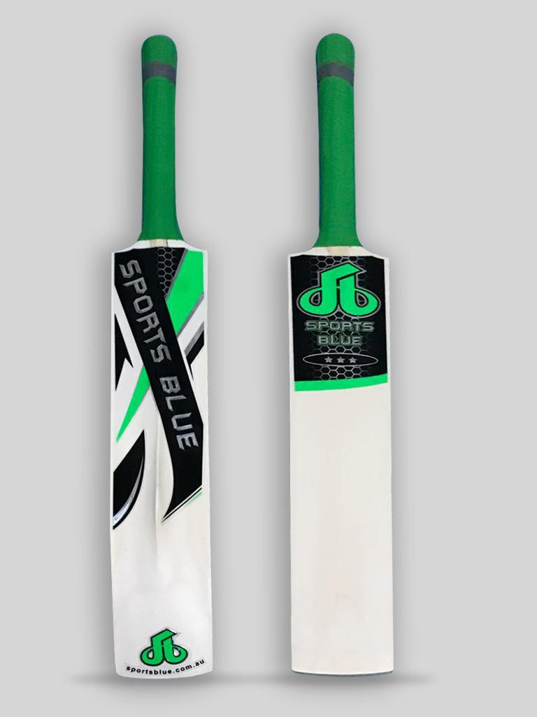 Sports Blue Indoor Cricket Bat - Green - Sports Blue