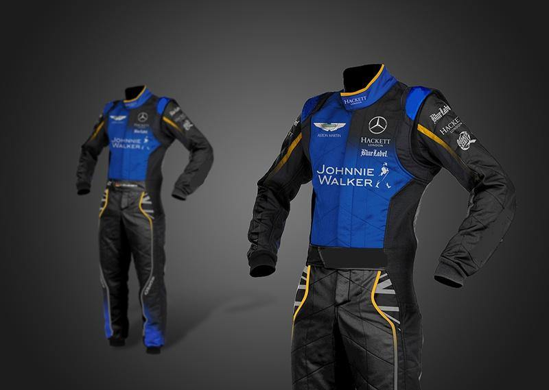 Mercedees race Suit - CIK/FIA - Sports Blue