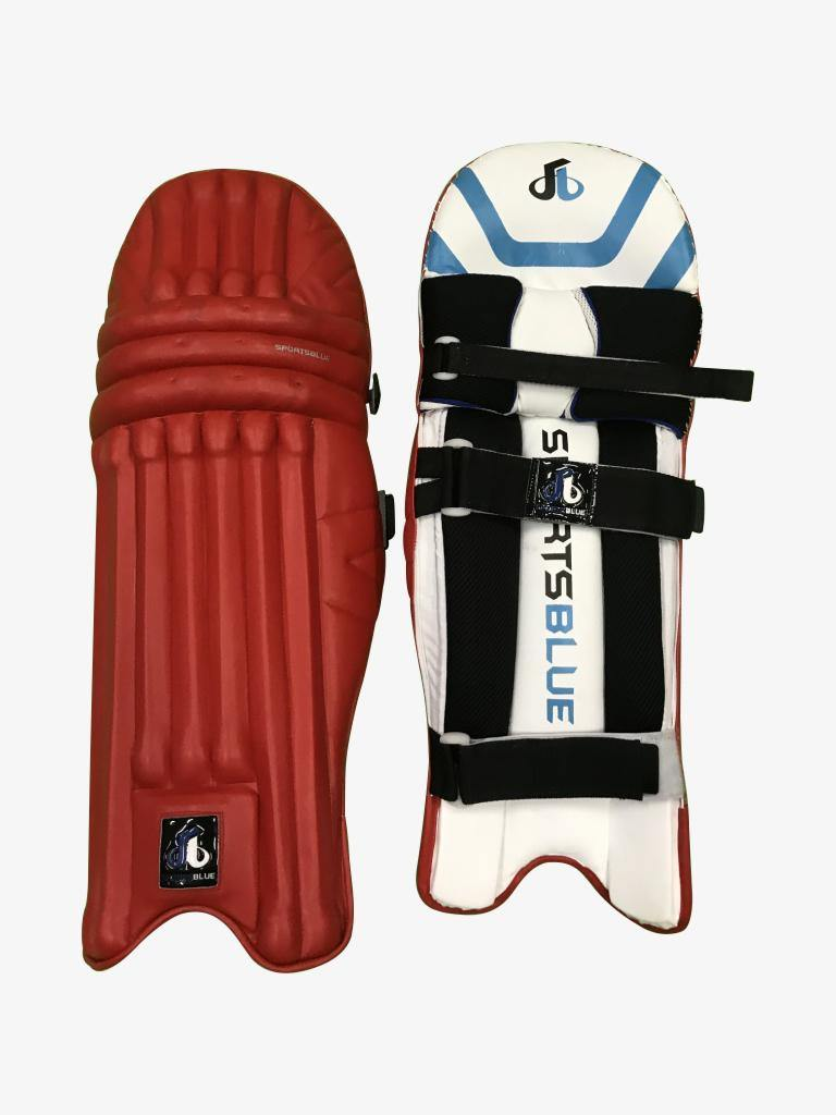 Sports Blue Cricket Batting Pads (leg guard) - Men's size - RED - Sports Blue