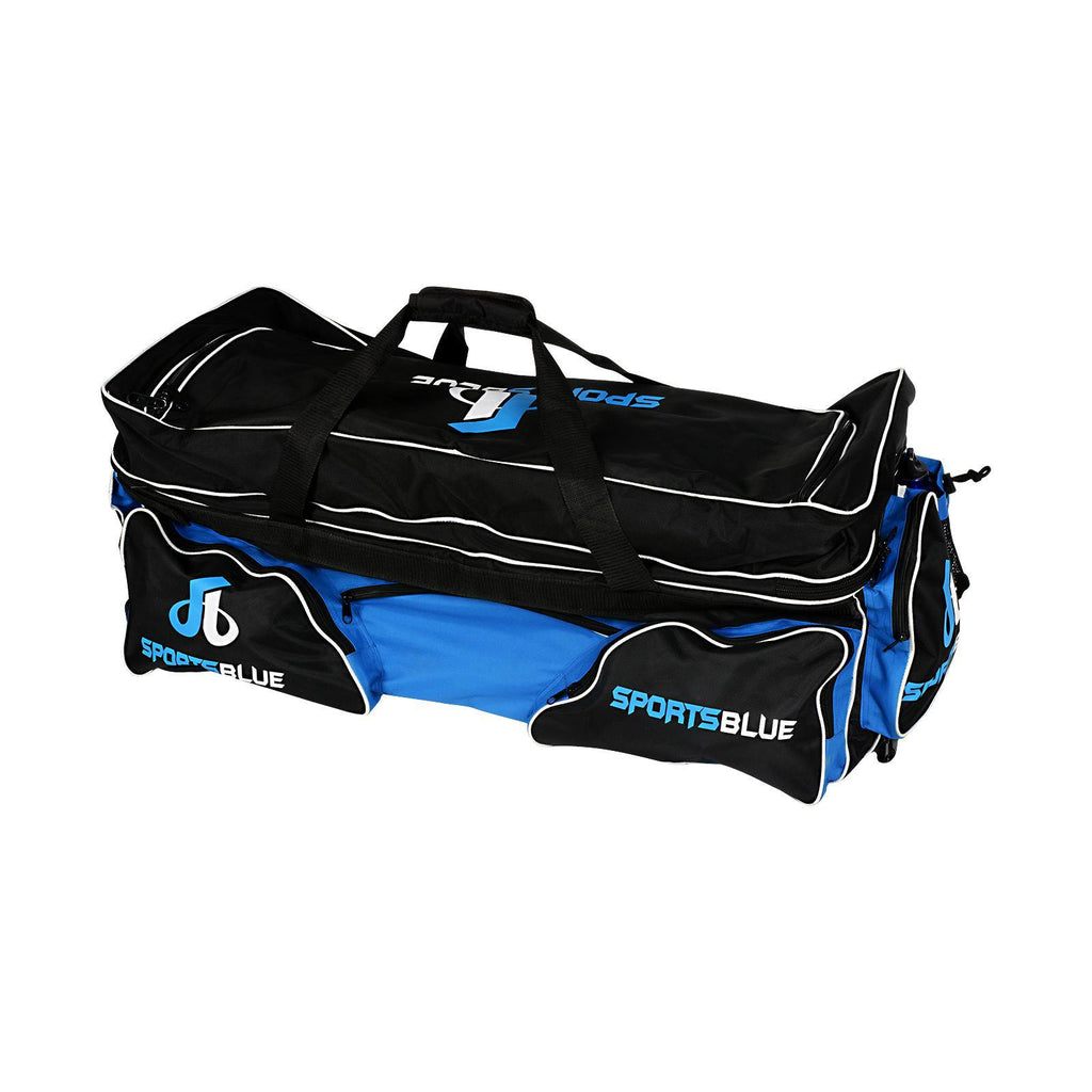 Sports Blue Cricket Kit Bag with Trolley wheels