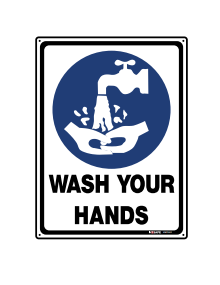 Sign Wash Your Hands 300x400mm