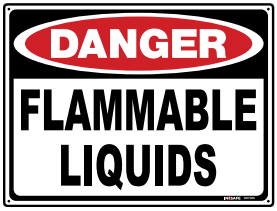 Sign; Flammable Liquid; 295x295mm