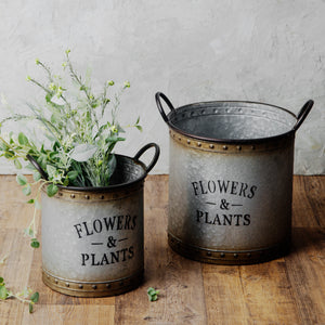 GALVANIZED GARDEN BUCKETS