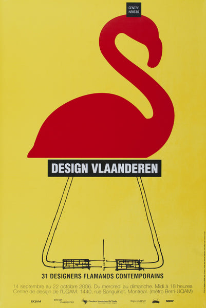 2006 Original Poster - Design Vlaanderen - Metz, Cloutier, Trottier for Publicité Sauvage