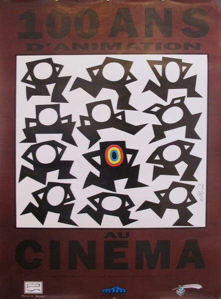 Contemporary Vittorio Poster, 100 Ans D'Animation au Cinema (100 Years of Animation at the Cinema)