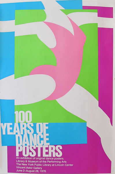 1976 Original American Exhibition Poster, 100 Years of Dance Posters - Donn Matus