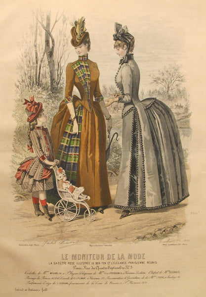 1886 Moniteur de la Mode, Parisian Ladies Fashion (Plate 11-1886)