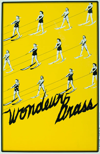 1987 Original Poster, Wonder Brass - Christine Lajeunesse for Publicité Sauvage