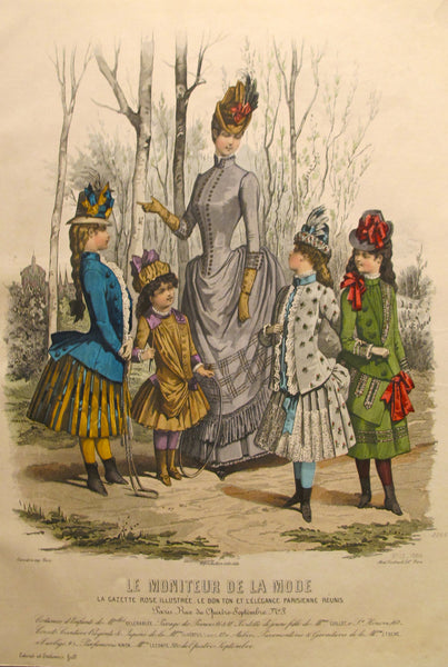 1886 Moniteur de la Mode, Parisian Ladies Fashion (Plate 13-1886)