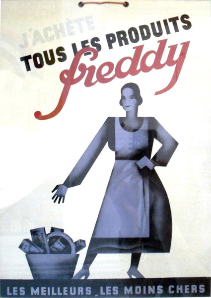 1920 Original French Art Deco Poster, Produits Freddy