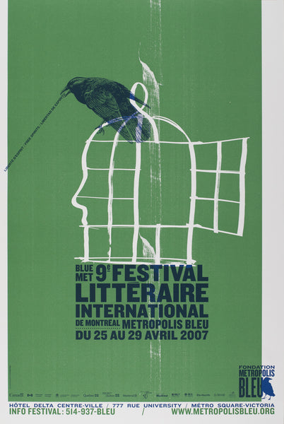 2007 Original Poster, 9e Fest. Littéraire Internationale- Orangetango for Publicité Sauvage