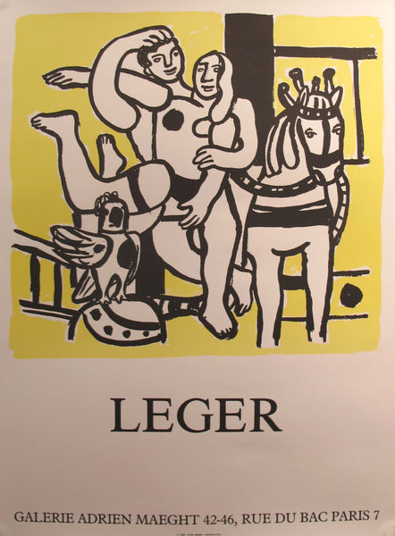 1986 French Exhibition Poster - Galerie Adrien Maeght - by Fernand Leger