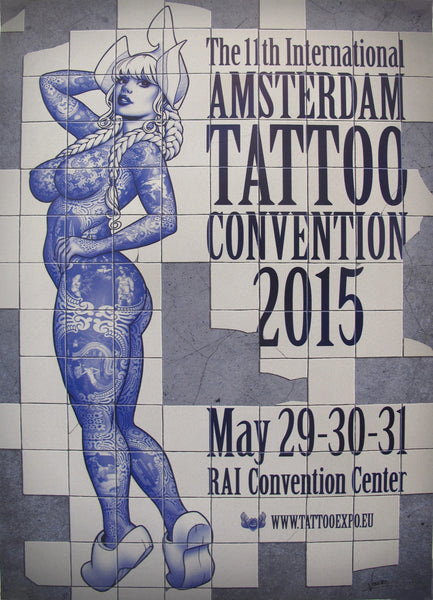 2015 Dutch Poster, Amsterdam Tattoo Convention - Vince