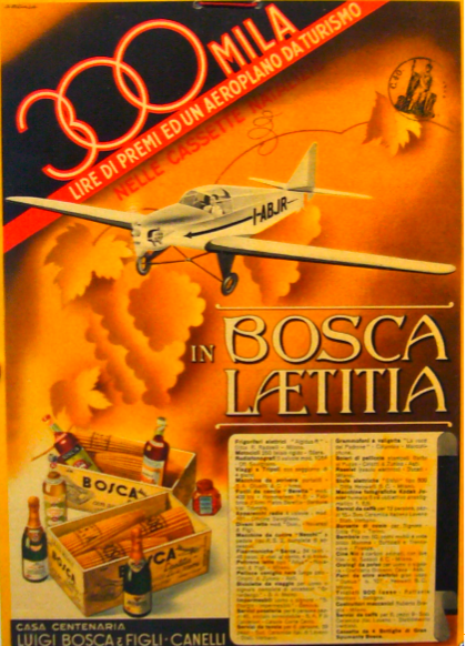 1940 Original Italian Carton, 300 Mila Advertisement