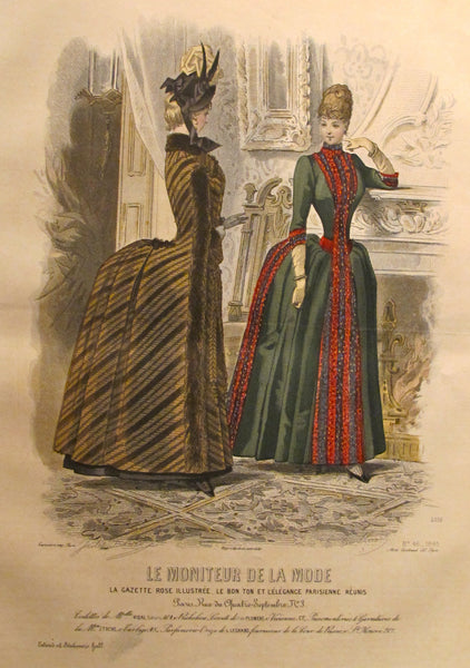 1885 Moniteur de la Mode, Parisian Ladies Fashion (Plate 46-1885)