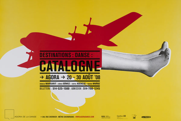2008 Original Poster - Destinations: Danse: Catalogne - Nicolas Boissy for Publicité Sauvage