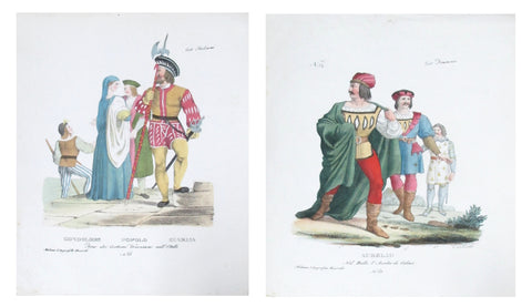 1799 Italian Clothing Design Pochoirs