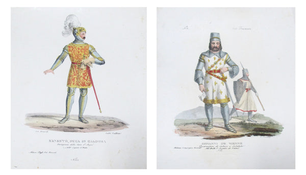1799 Italian Clothing Design Pochoirs, Soldiers #2