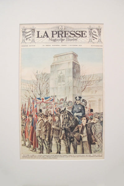 1936 La Presse Newspaper Front Page, Dominion Square (November 7)