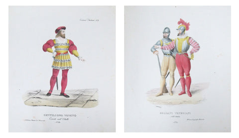 1799 Italian Courtly Clothing Design Pochoirs #3
