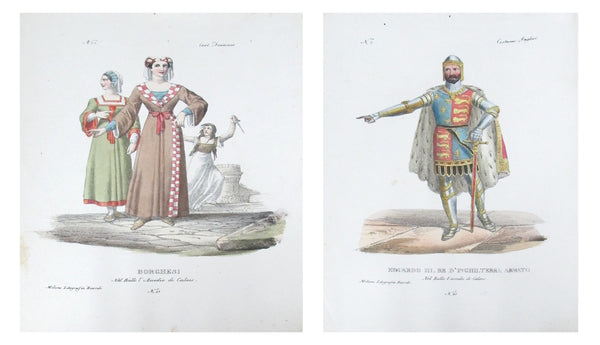 1799 Italian Courtly Clothing Design Pochoirs #2