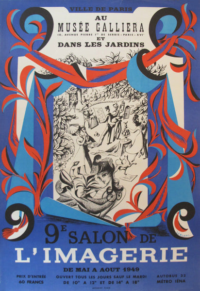 1948 French Exhibition Poster, 9e Salon de l'imagerie
