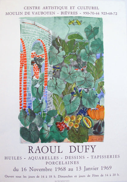 1968 French Raoul Dufy Exhibition Poster, Huiles, Aquarelles, Dessins