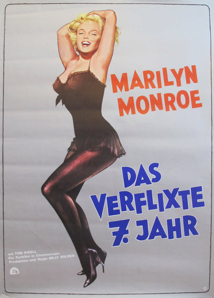"1974 German Marilyn Monroe Poster - ""The Seven Year Itch"""