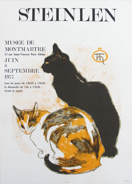 1977 French Steinlen Exhibition Poster, Cats
