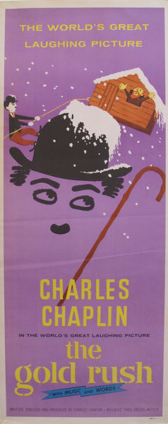 1972 Charlie Chaplin Movie Poster, Gold Rush