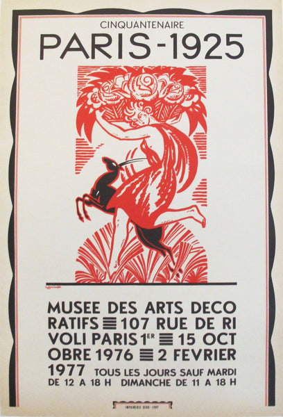 1976 French Art Deco Exhibition Poster, Cinquantenaire Paris 1925